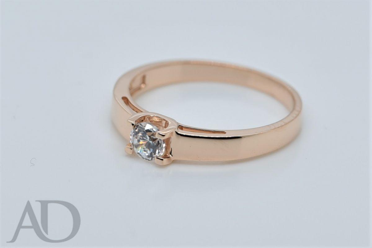 Sužadėtuvių žiedas su cirkoniu